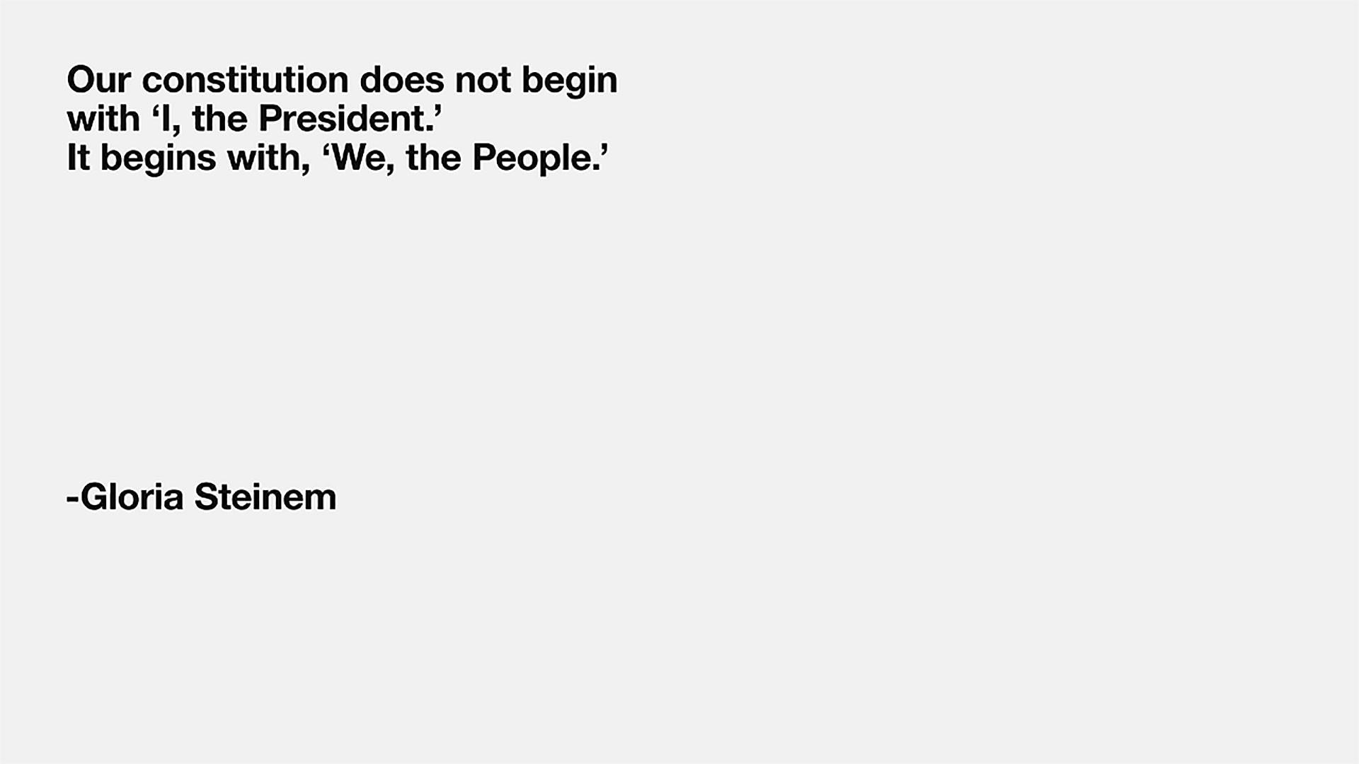 We, the People: Gloria Steinem on The Women's March On Washington