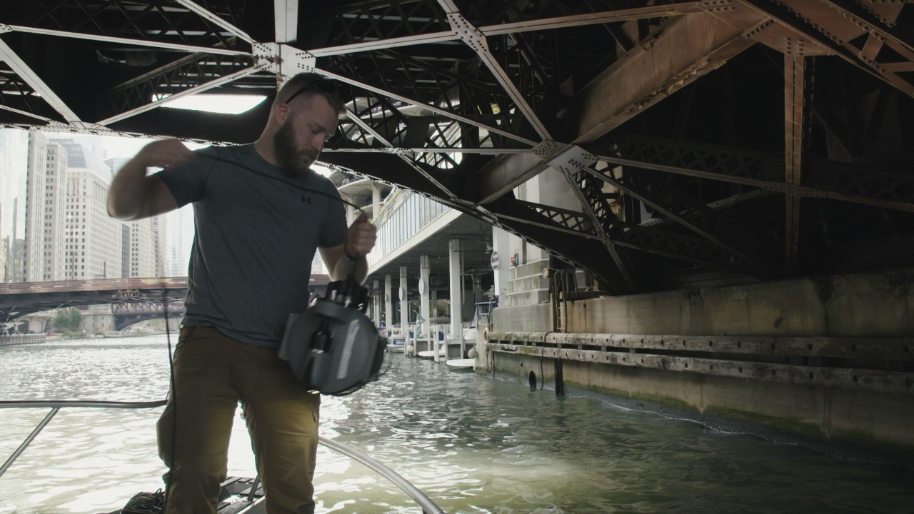We hired an underwater drone operator to inspect Chicago's Trump tower