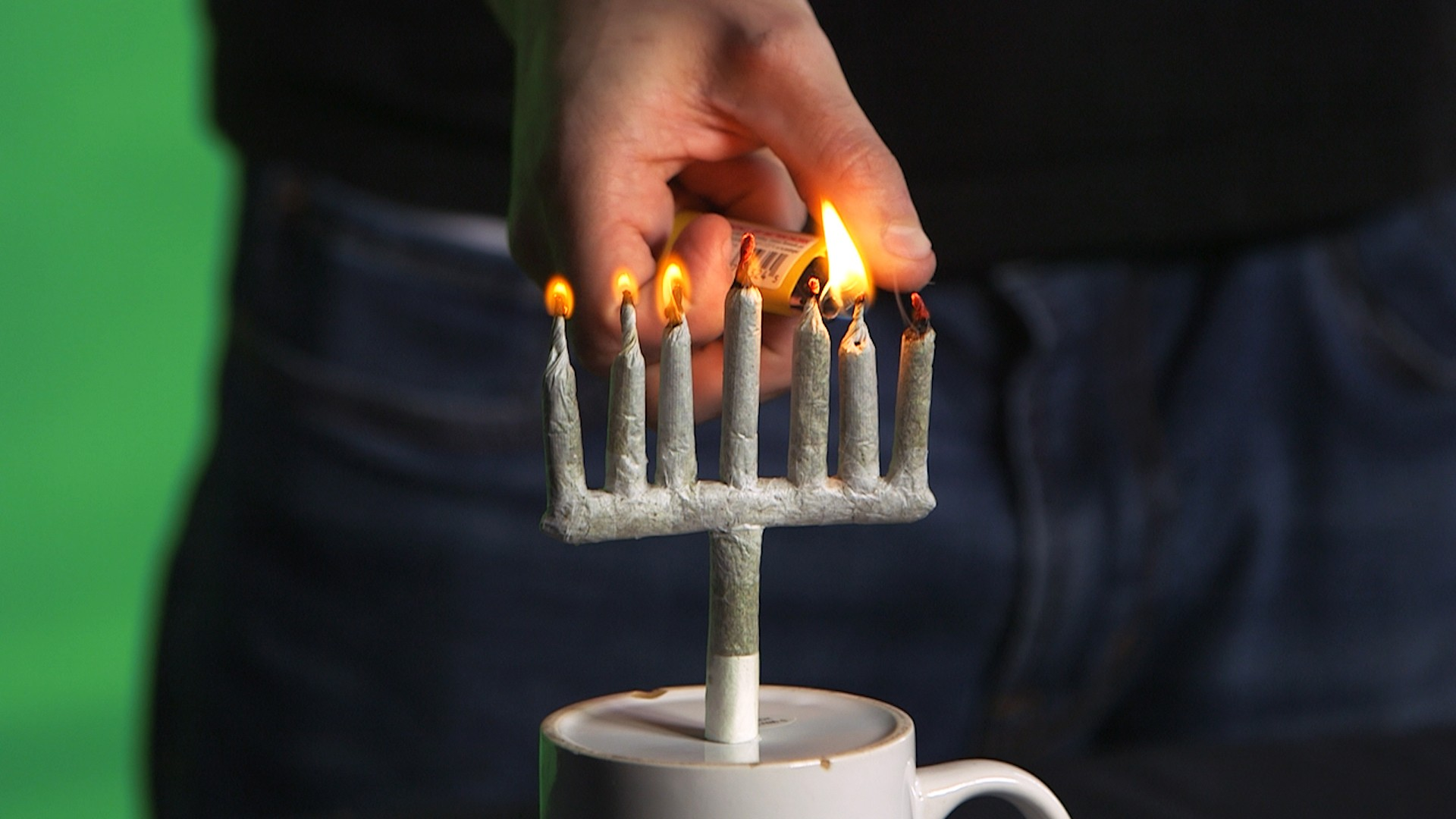 How to Light Up with a Menorah-Shaped Joint
