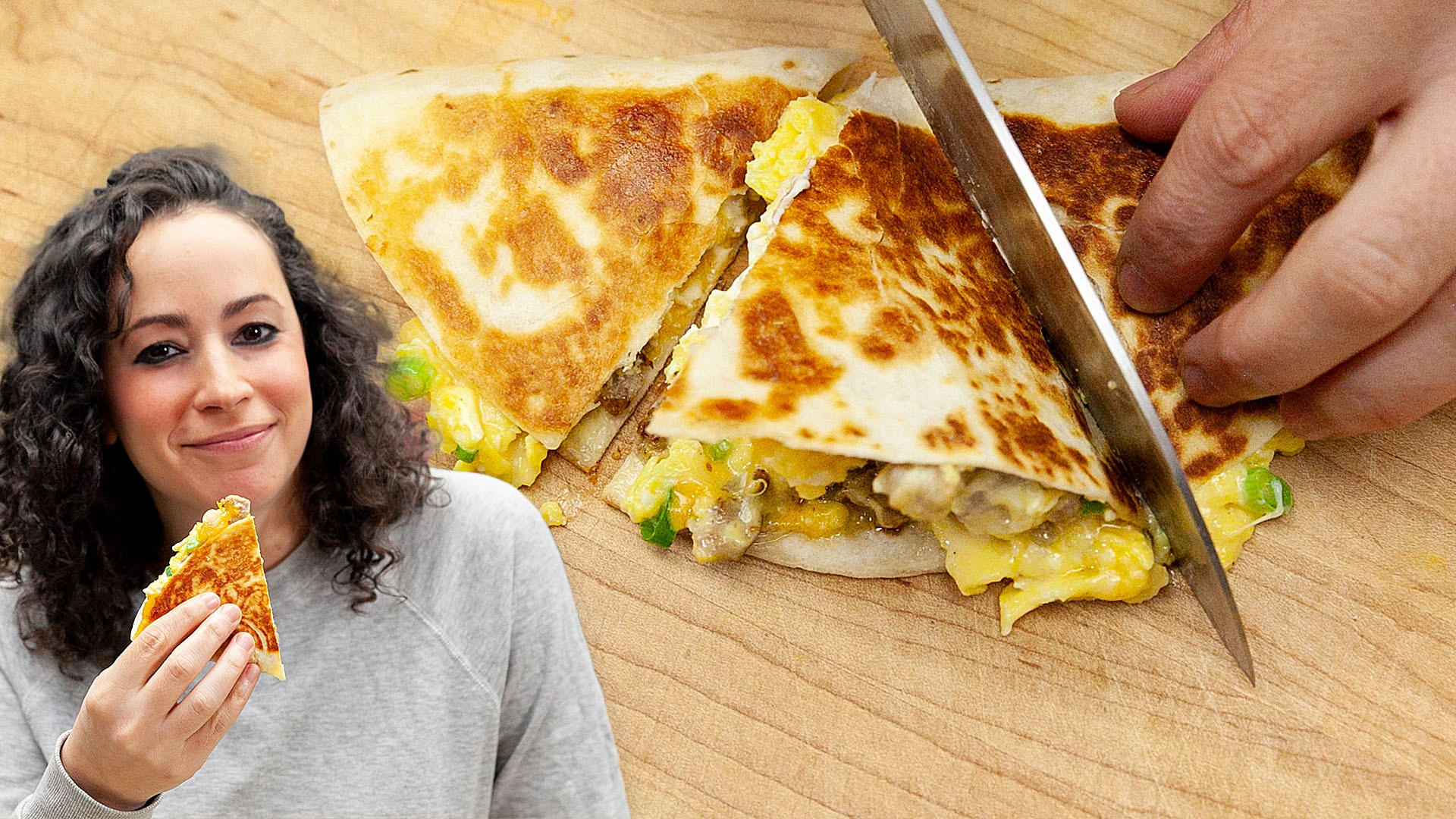 Farideh's Sausage And Soft Scramble Breakfast Quesadilla - The Cooking Show