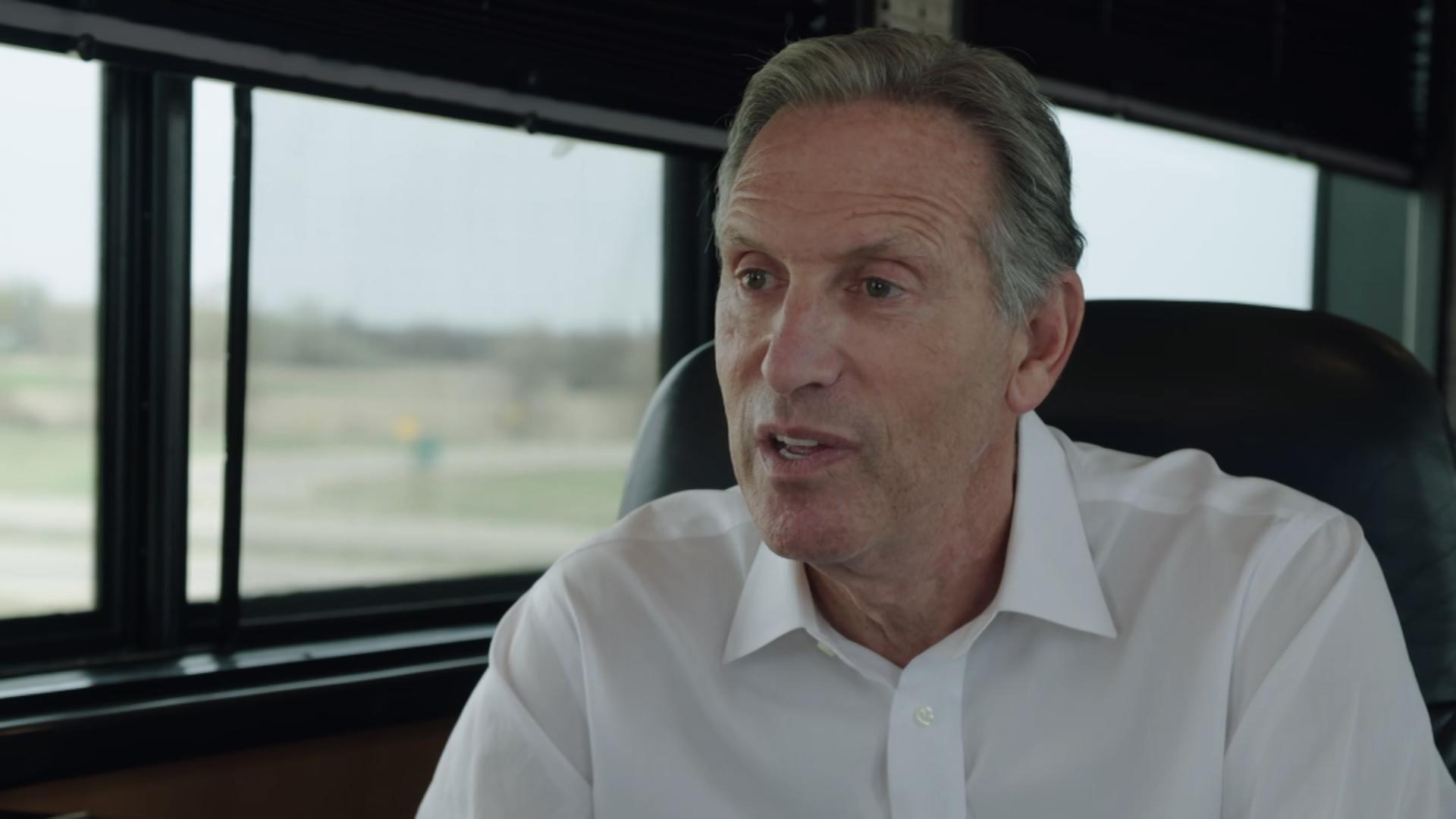 Howard Schultz thinks he's the right billionaire for America