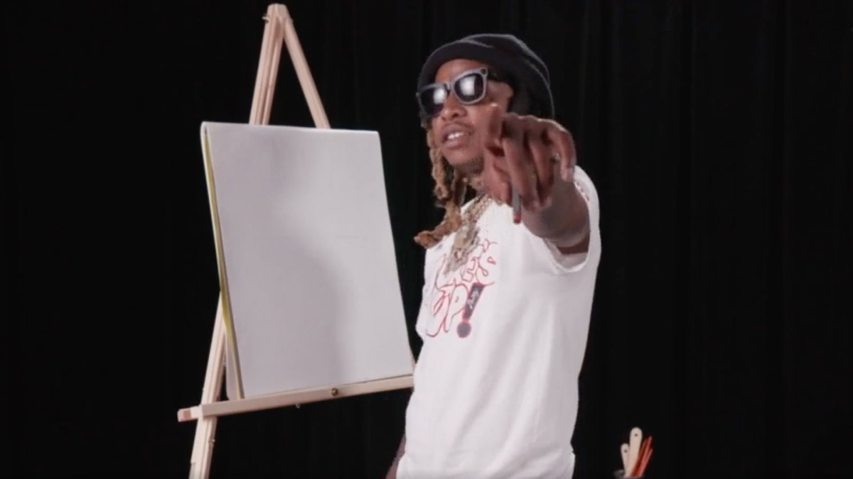 Nef Pharaoh Draws His Self Portrait