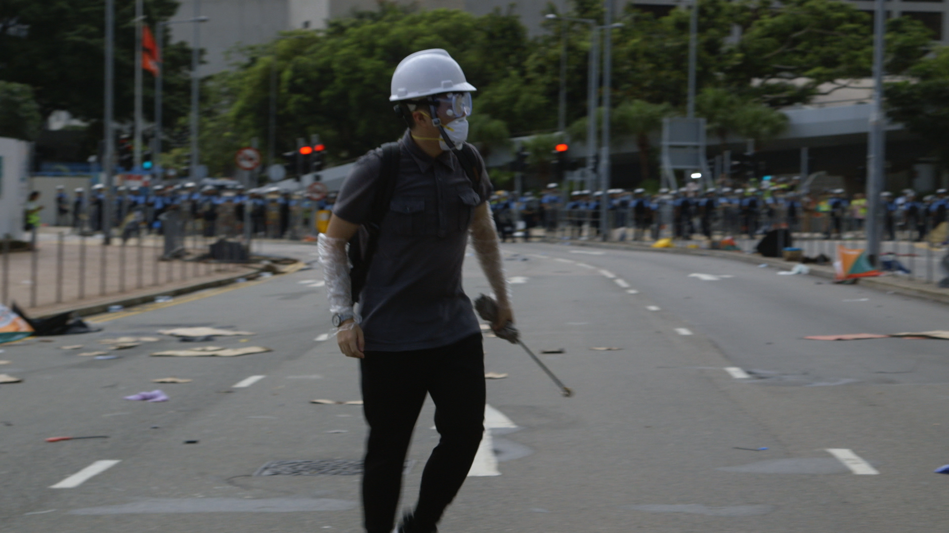 Pepper Spray, Batons and a Half-Bitten Finger: Hong Kong's Weekend of Protests