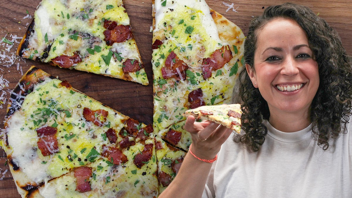 Carbonara Breakfast Pizza