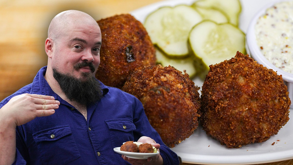How To Make Boudin Balls with Isaac Toups